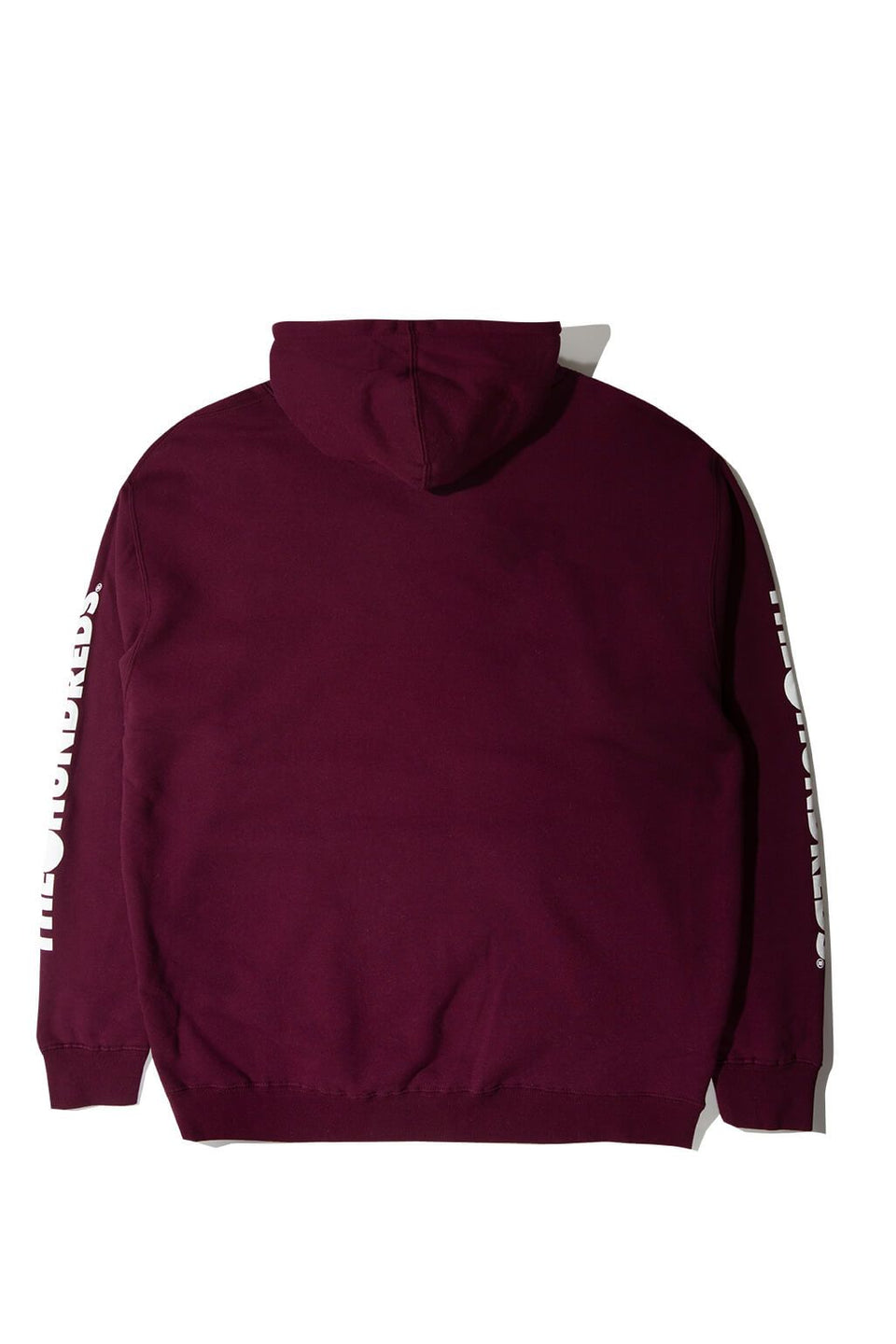 Forever Solid Bomb Crest Pullover Hoodie Burgundy Back