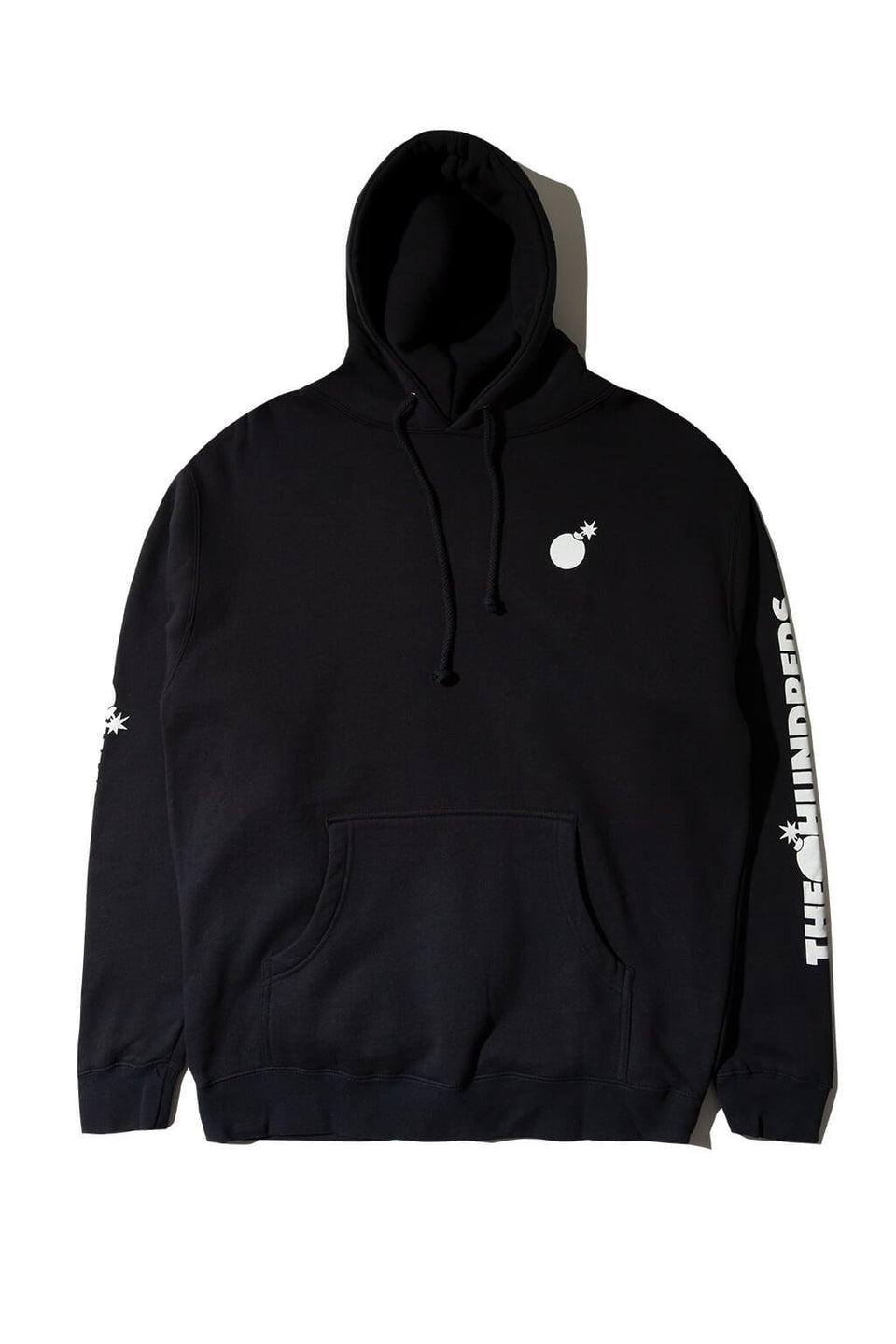 Forever Solid Bomb Crest Pullover Hoodie Navy Front