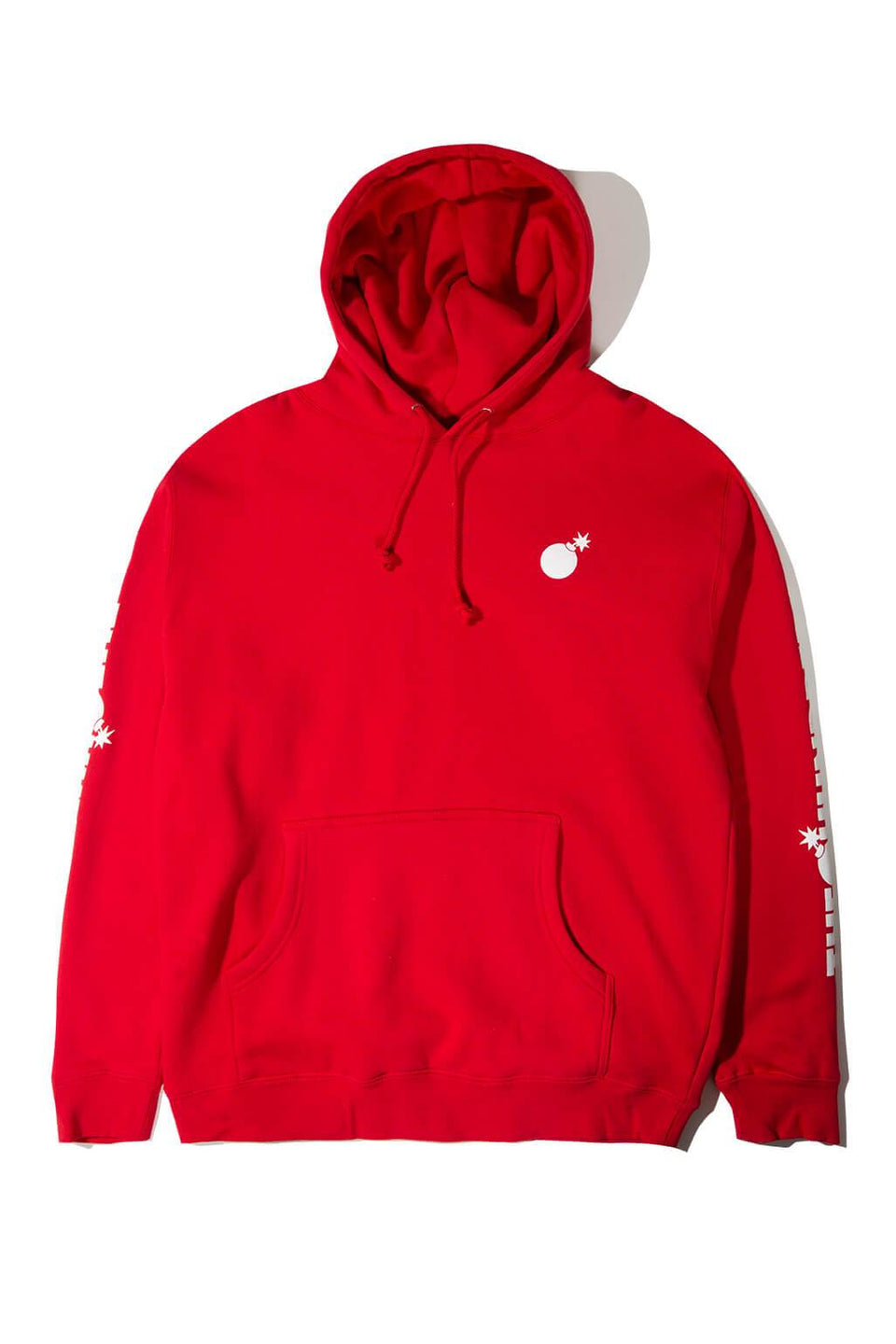 Forever Solid Bomb Crest Pullover Hoodie Red Front