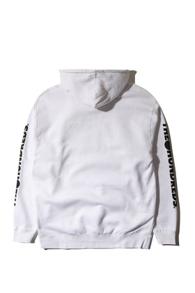 Forever Solid Bomb Crest Pullover Hoodie White Back