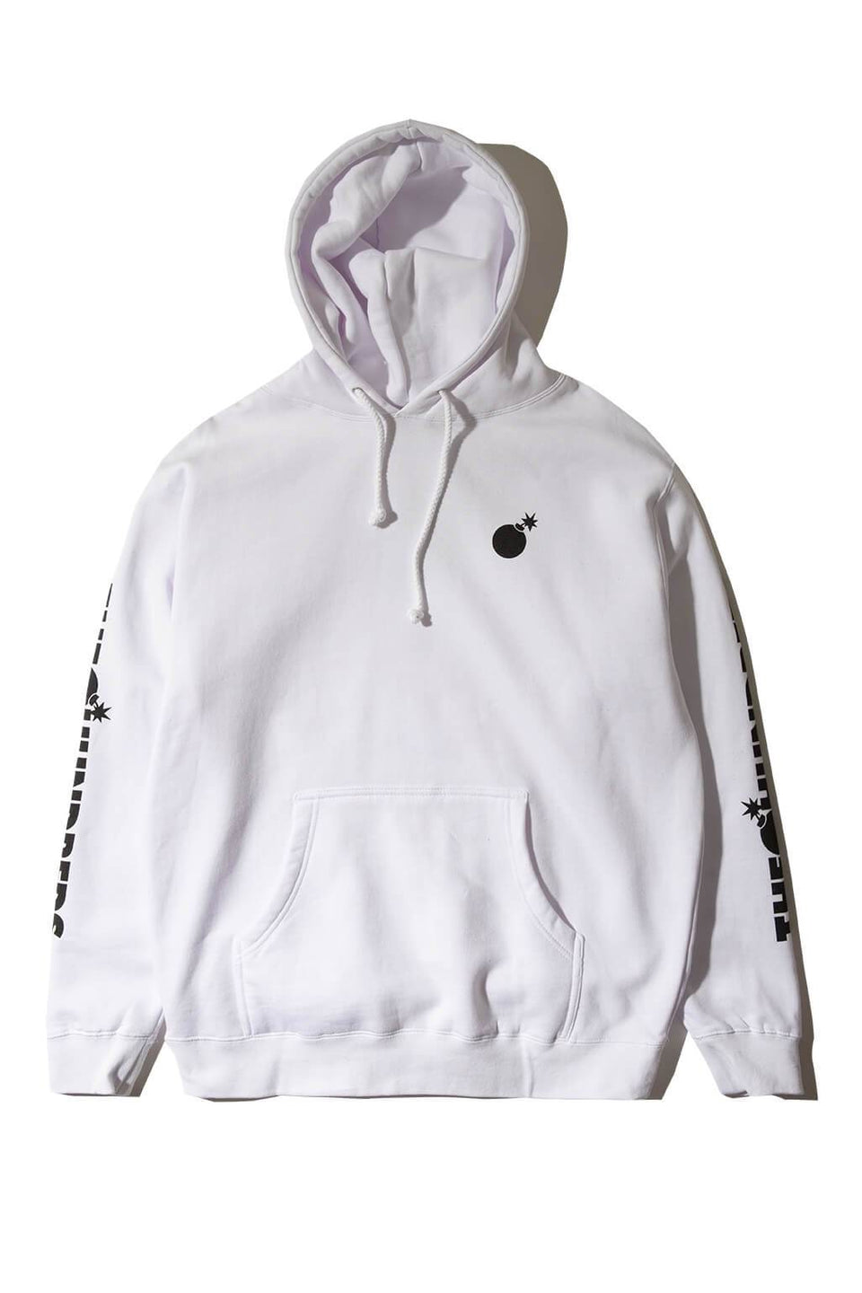 Forever Solid Bomb Crest Pullover Hoodie White Front
