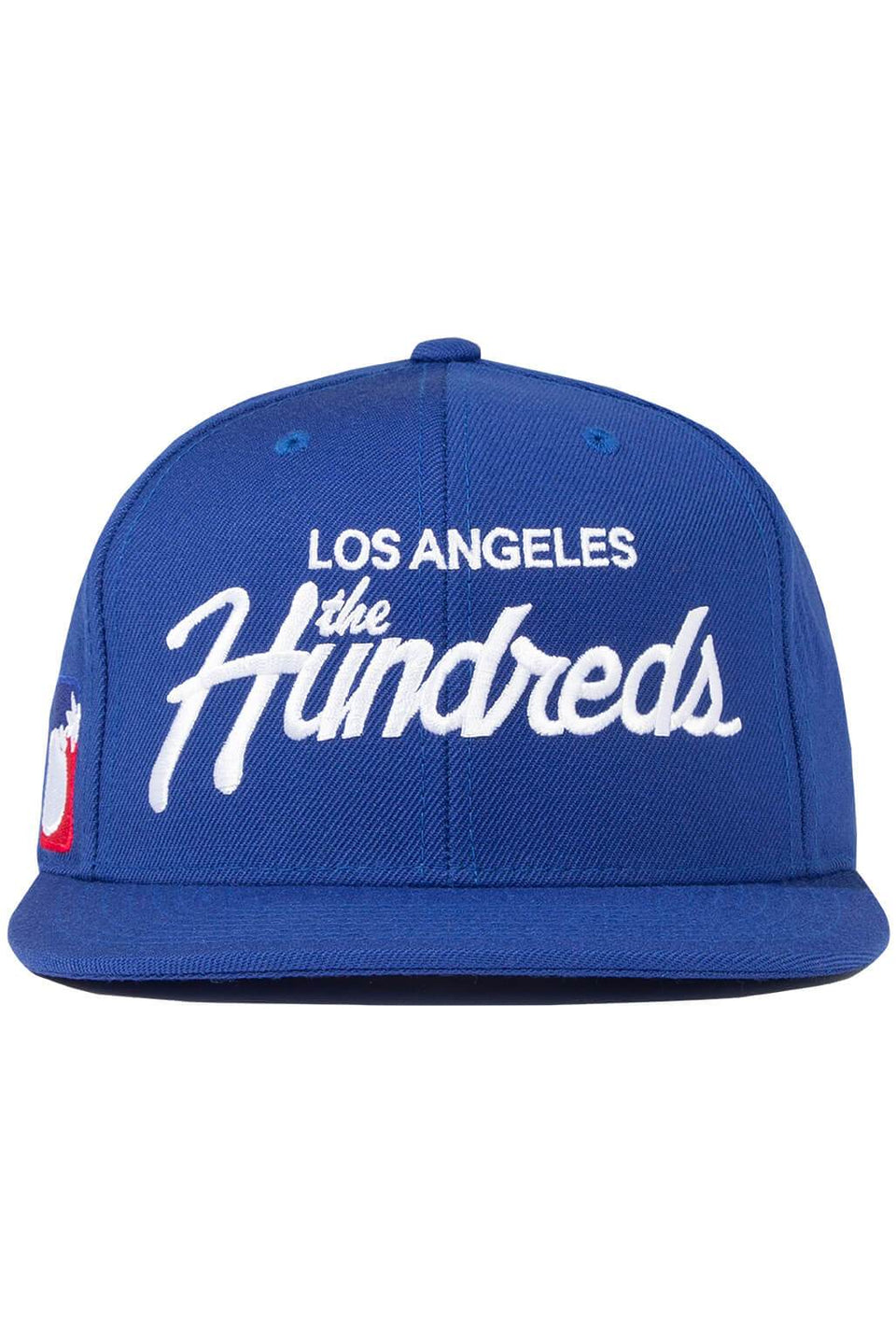 The Hundreds Forever Team Snapback Cap Blue Front