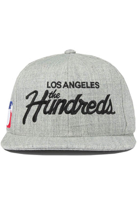 The Hundreds Forever Team Snapback Cap Athletic Heather Front