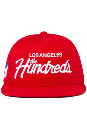 The Hundreds Forever Team Snapback Cap Red Front