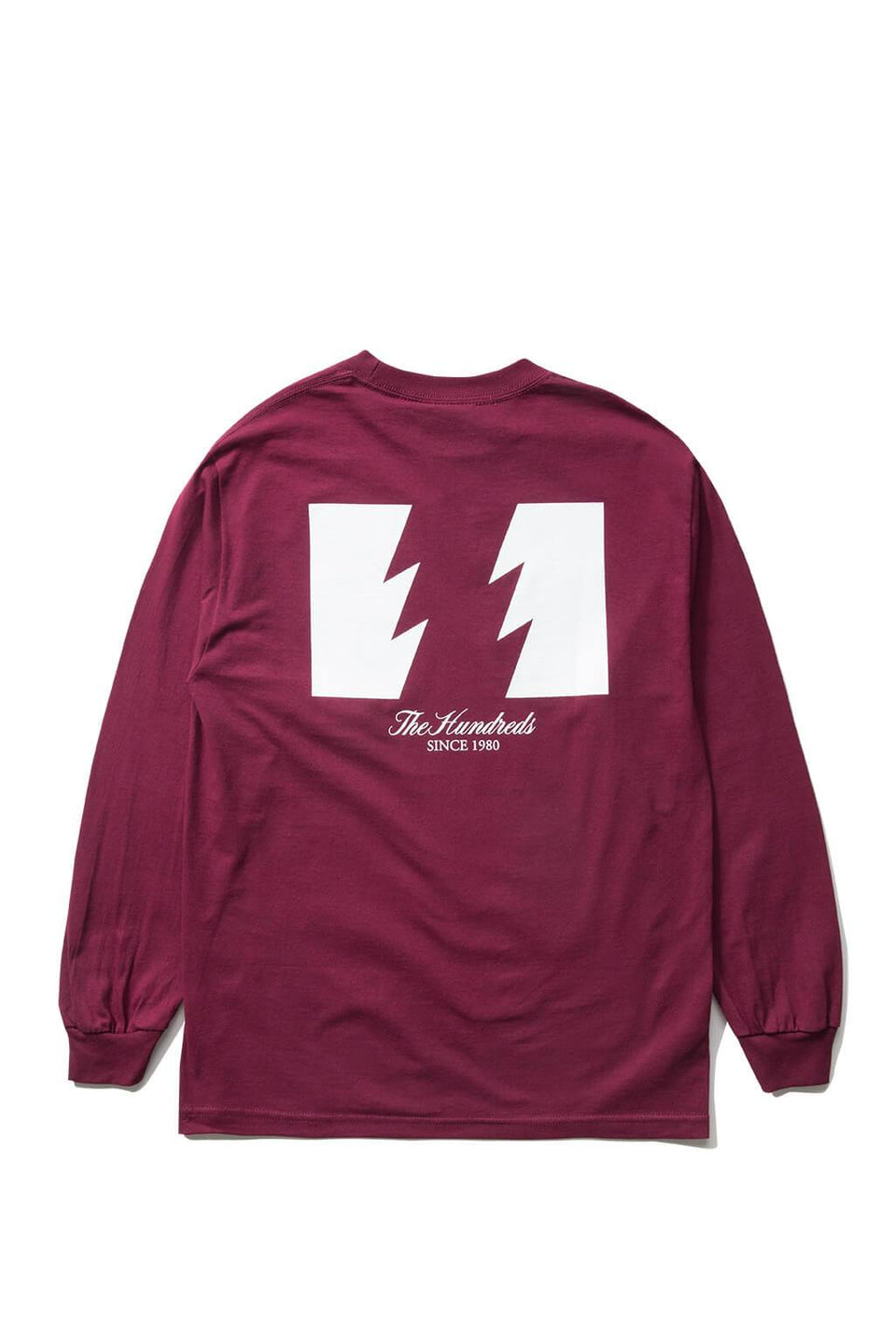 The Hundreds Forever Wildfire Longsleeve Shirt Burgundy Back