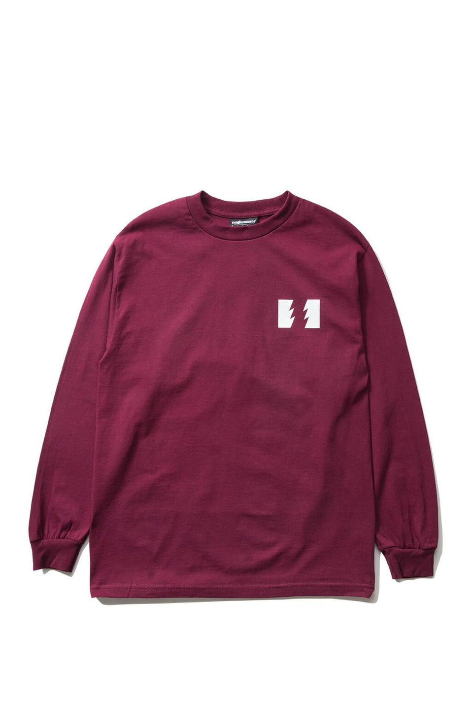 The Hundreds Forever Wildfire Longsleeve Shirt Burgundy Front