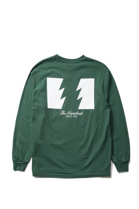 The Hundreds Forever Wildfire Longsleeve Shirt Forest Green Back
