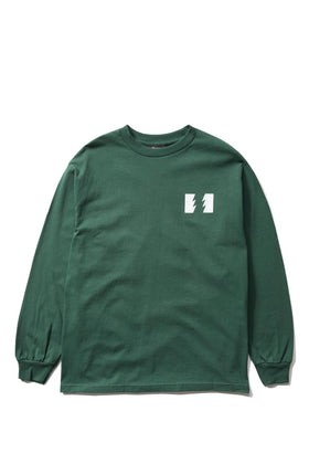 The Hundreds Forever Wildfire Longsleeve Shirt Forest Green Front