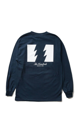 The Hundreds Forever Wildfire Longsleeve Shirt Navy Back
