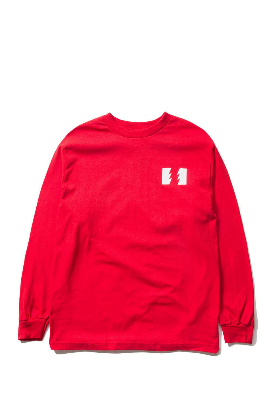 The Hundreds Forever Wildfire Longsleeve Shirt Red Front