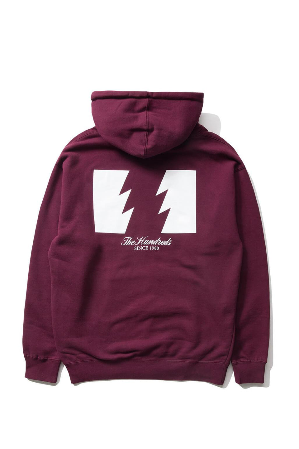 The Hundreds Forever Wildfire Pullover Hoodie Burgundy Back
