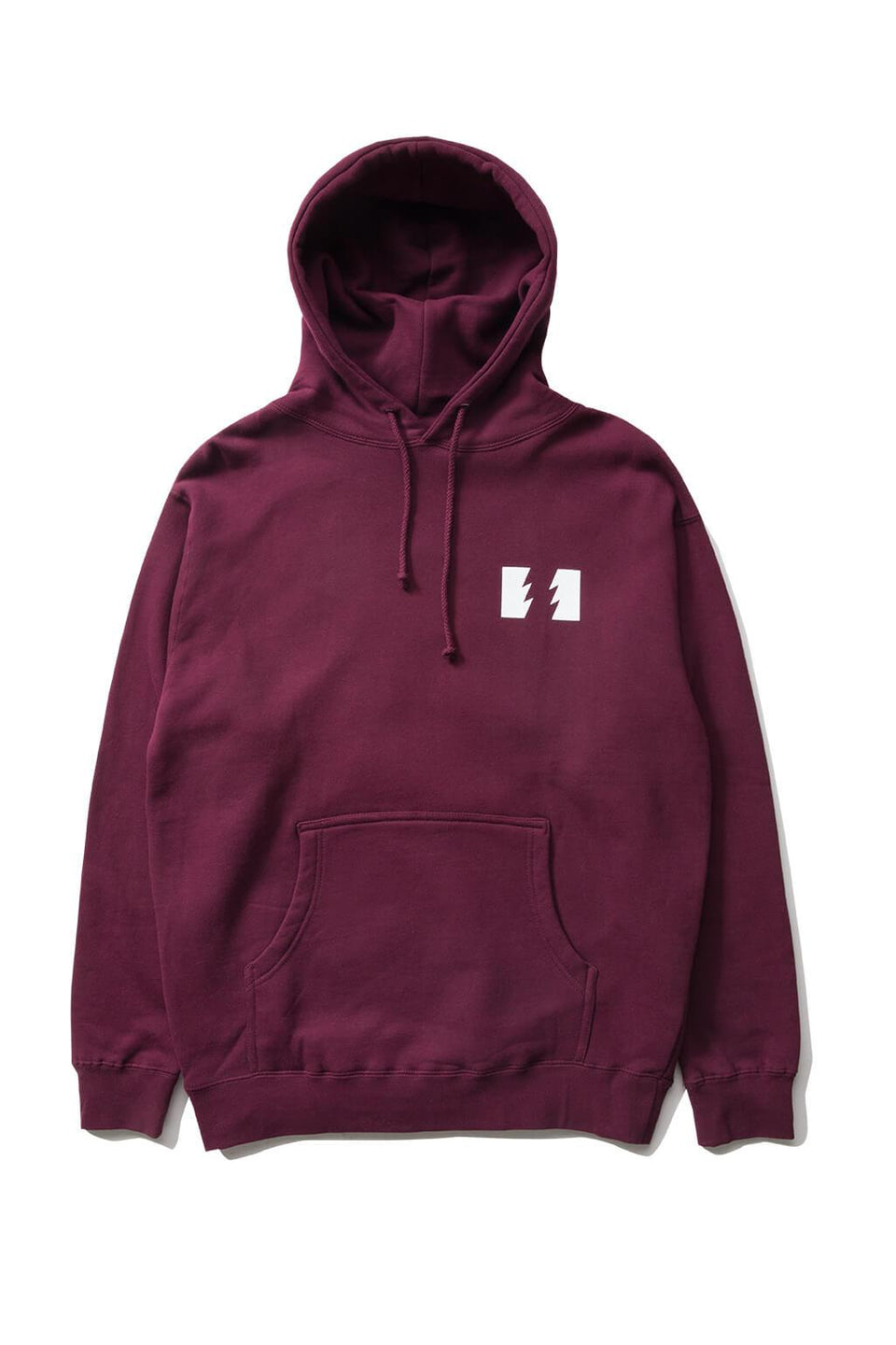 The Hundreds Forever Wildfire Pullover Hoodie Burgundy Front
