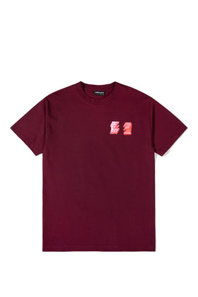 The Hundreds Wildfire Underground T-Shirt Burgundy