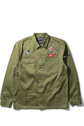 Drab Button-Up