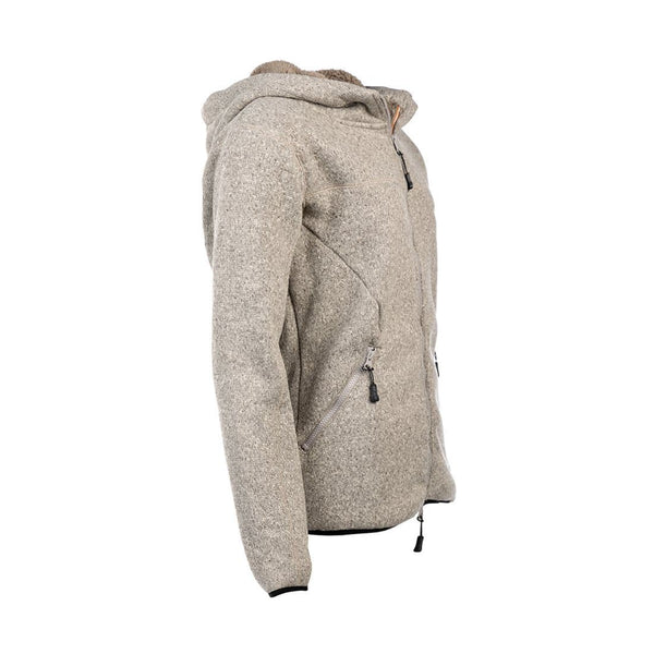 Pile Fleece Zip-Up Hoodie (Gray Melange) - Arrak USA - Active Lifestyle Clothing