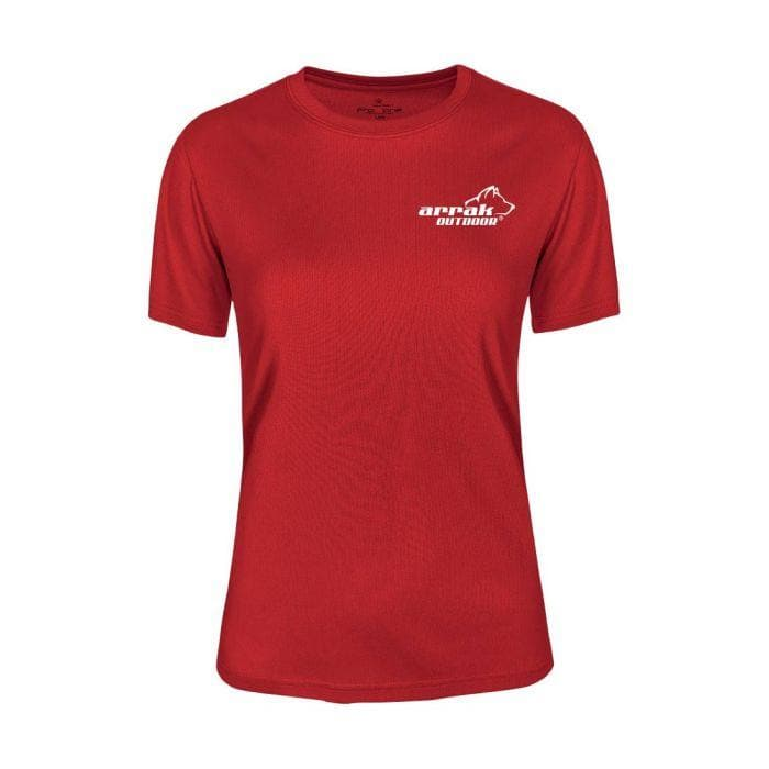 Women's Athletic T-Shirt (Red) - Arrak USA - Active Lifestyle Clothing