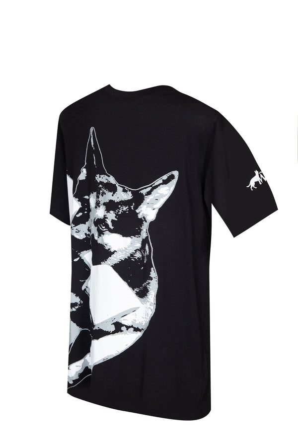 Working Dog Design's Men's Dumbbell T-Shirt (Black)