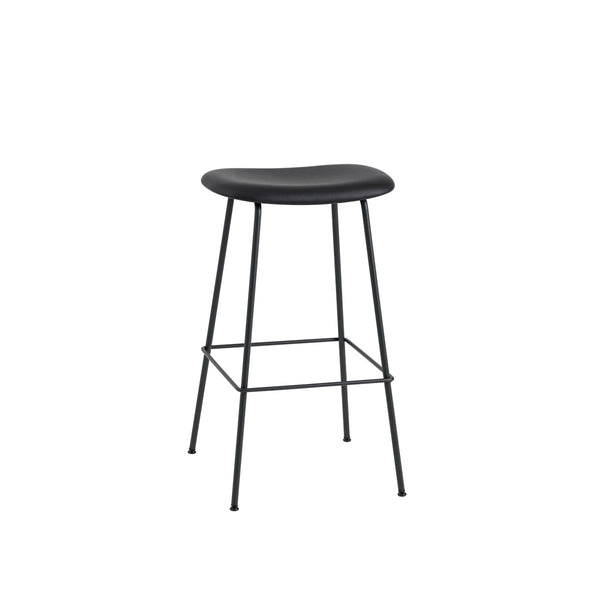Fiber Counter Stool / Tube Base / Leather / 75cm