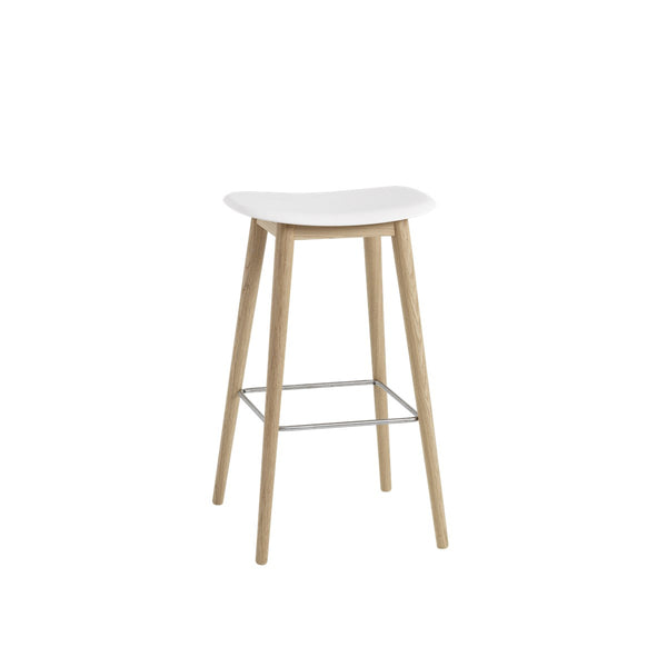 Fiber Bar Stool / Wood Base / 75cm