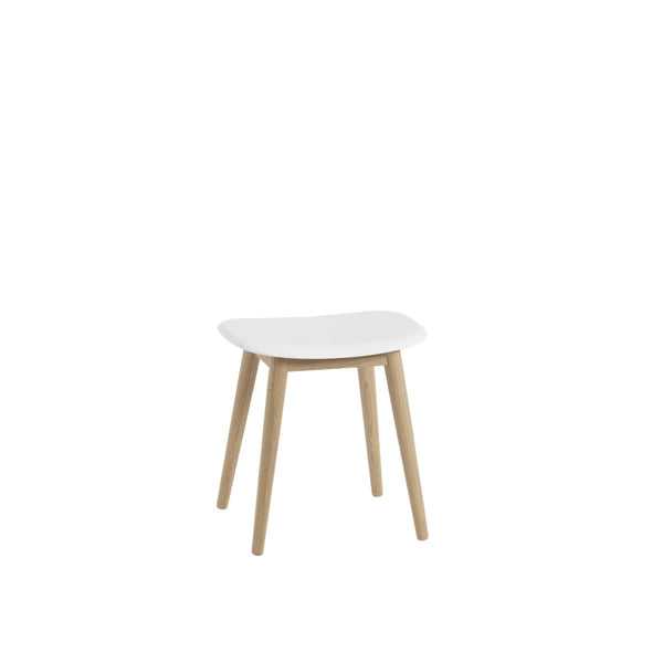 Fiber Stool / Wood Base / 45cm