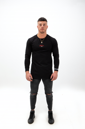 Elare London - Long Sleeve Signature T-shirt - Black