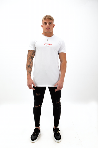 Elare London - Short Sleeve Signature T-Shirt - White