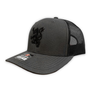 New Scotland Lion Meshback Hat in Charcoal/Black