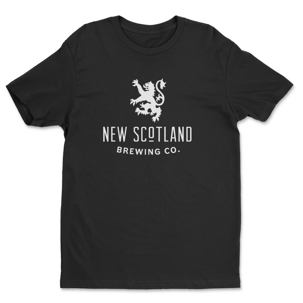 100% Organic New Scotland T-Shirt in Black