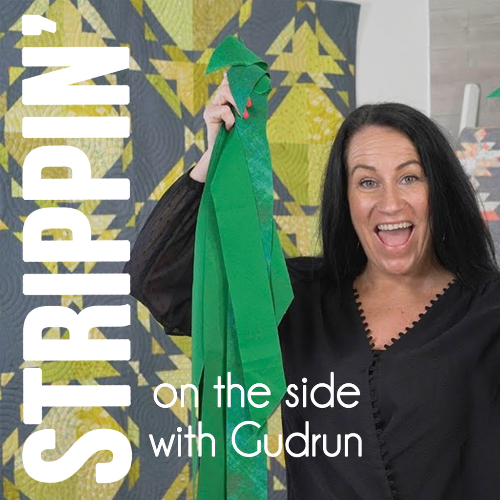 Gudrun Erla of GE Designs Strippin' on the Side Scrap Quilt Challenge 2020