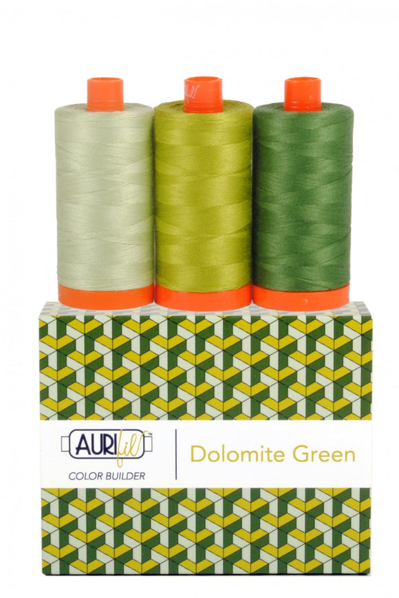 Aurifil Color Builder 3 pc Set - Dolomite Green