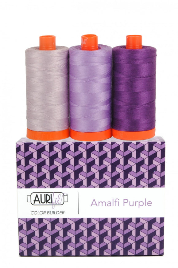 Aurifil Color Builder 3 pc Set - Amalfi Purple