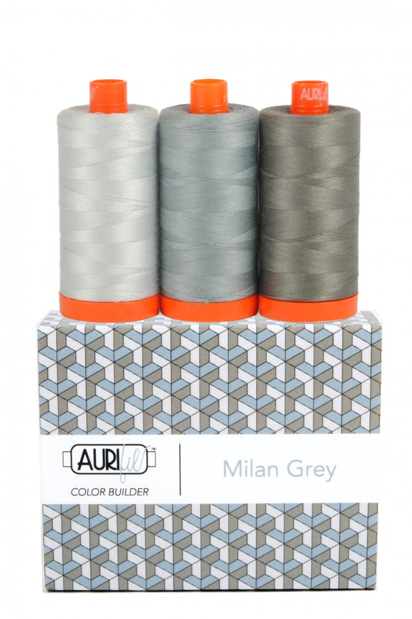 Aurifil Color Builder 3 pc Set - Milan Grey