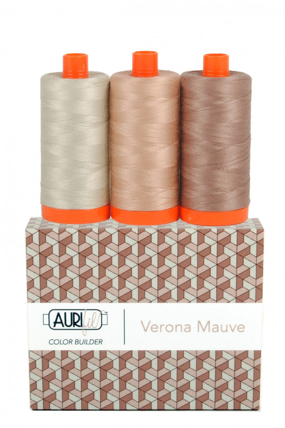 Aurifil Color Builder 3 pc Set - Verona Mauve