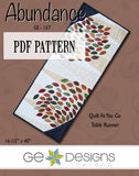 Abundance Table Runner Pattern PDF