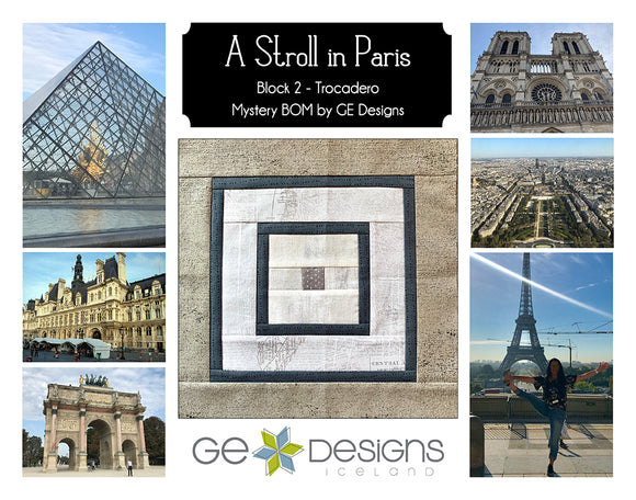 A Stroll In Paris - BLOCK 2 Mystery BOM - pattern with video