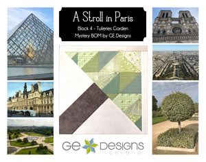 A Stroll In Paris - BLOCK 4 Mystery BOM - pattern with video