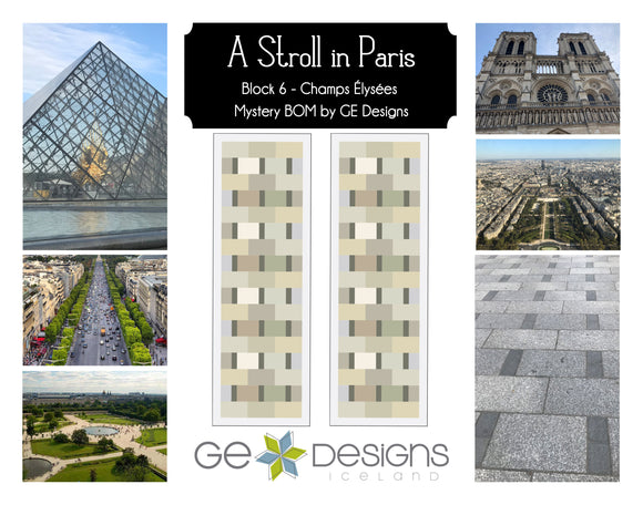 A Stroll In Paris - BLOCK 6 Mystery BOM - pattern with video