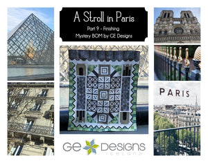 A Stroll In Paris - Part 9, Finishing,  Mystery BOM - pattern with video