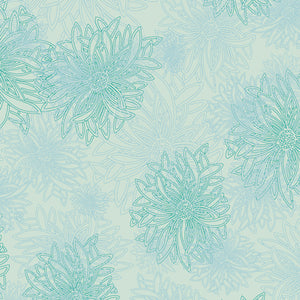Floral Elements Icy Blue 519
