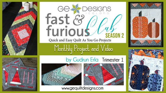 Fast & Furious Club Season 2 - Trimester 1, QAYG pattern & video class