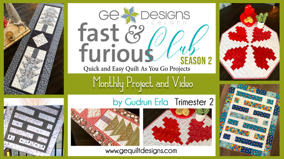 Fast & Furious Club Season 2 - Trimester 2, QAYG pattern & video class