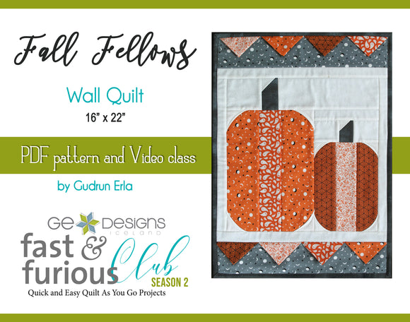 Fall Fellows Wall Quilt - Pattern and video class