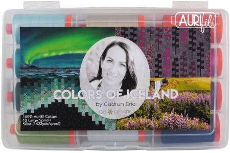 Colors Of Iceland - Aurifil Thread Collection