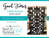 Good Times Table runner - Pattern and video class