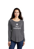 "Women's ""I'm a Stripologist"" 2020 Long sleeve shirt - Grey"