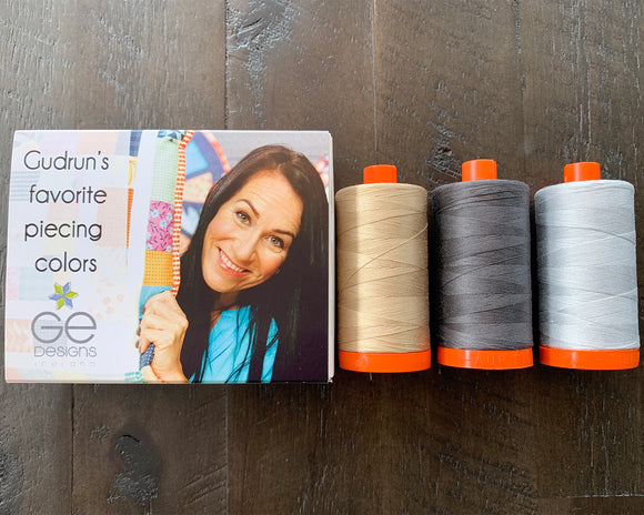 Gudrun's Favorite Piecing Colors - Aurifil Thread Collection