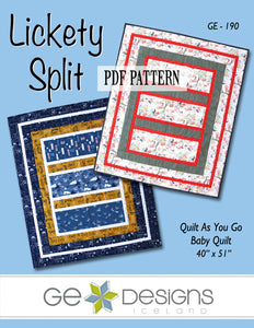 Lickety Split Crib Quilt PDF Pattern