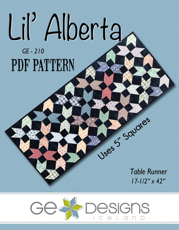 Lil' Alberta - PDF Table runner pattern