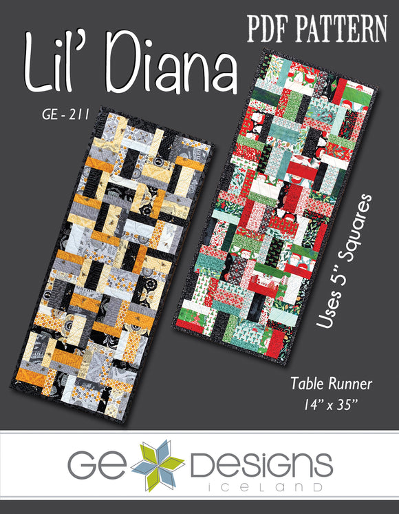 Lil' Diana - PDF Table runner pattern