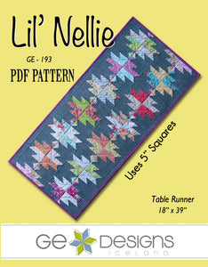 Lil' Nellie - PDF Table runner pattern